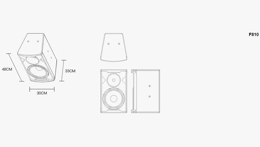 Loa karaoke F-Series -F806/08/10/12/15/30 kích thướt 1 3