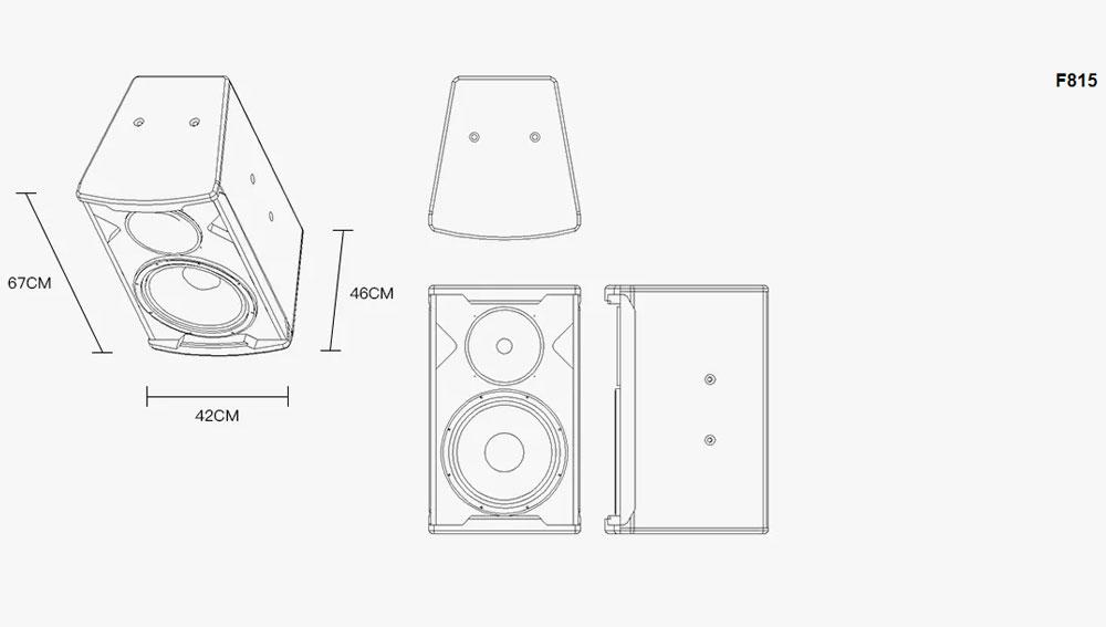 Loa karaoke F-Series -F806/08/10/12/15/30 kích thướt 1 5