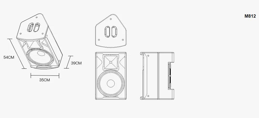 Loa karaoke Active Monitor M810 45