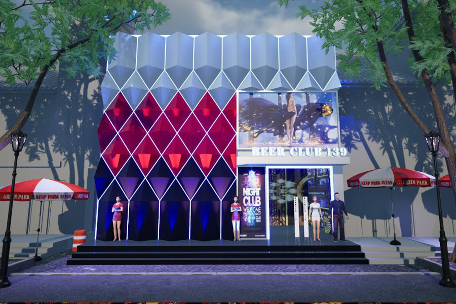 Thiết kế thi công Bar Club 139 TP Vĩnh Long