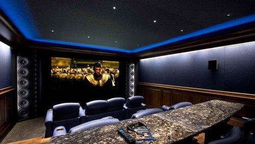 Mẫu thiết kế phòng phim giải trí gia đình 021