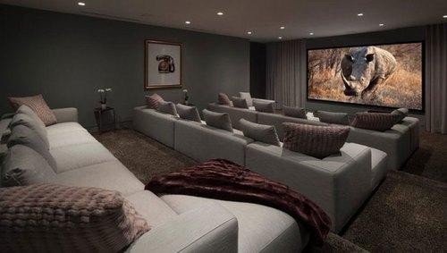 Mẫu thiết kế phòng phim giải trí gia đình 022