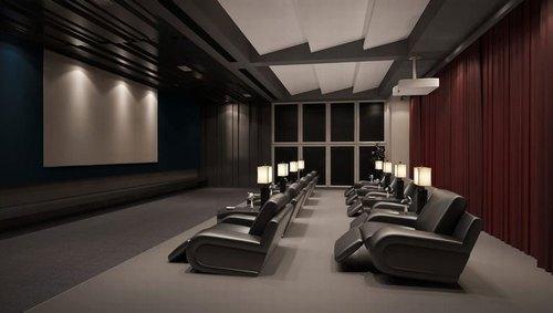 Mẫu thiết kế phòng phim giải trí gia đình 023