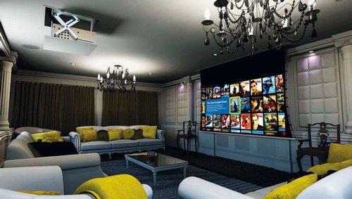 Mẫu thiết kế phòng phim giải trí gia đình 030