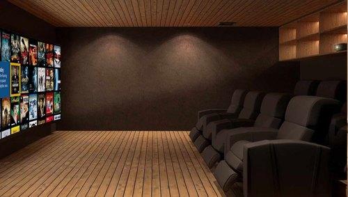 Mẫu thiết kế phòng phim giải trí gia đình 035