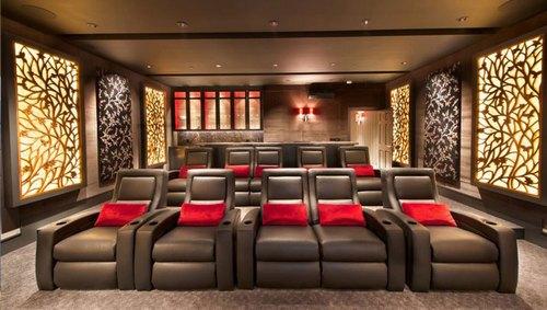 Mẫu thiết kế phòng phim giải trí gia đình 038