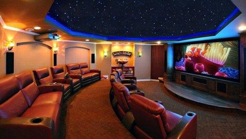 Mẫu thiết kế phòng phim giải trí gia đình 042