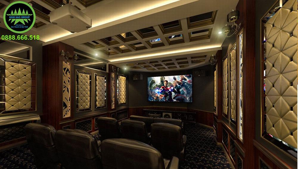 Thiết kế thi công phòng chiếu phim gia đình